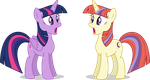 Mlp Fim Twilight S And Moon D (this twin?) Vector by luckreza8