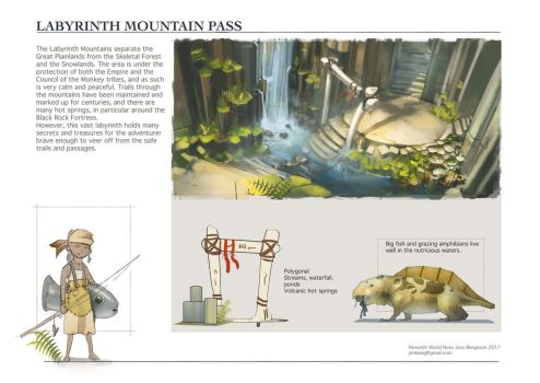 WorldNote: Labyrinth Mountains by CaconymDesign