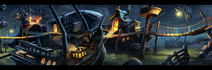 Monkey Island 2 Special Edition Woodtick Wallpaper by Nightjuh