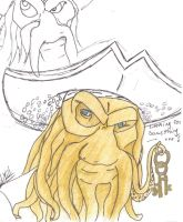 My very FIRST Davy Jones Sketch!! by Werewolf-Pirate