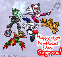 Happy 48th National Day Singapore! by JemiDove