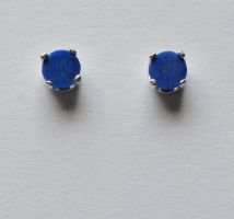 Lapis 5mm Studs by lamorth-the-seeker