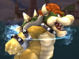 Bowser's Swimming? by silverhammerbro