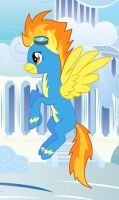 Spitfire in Cloudsdale by Stamps