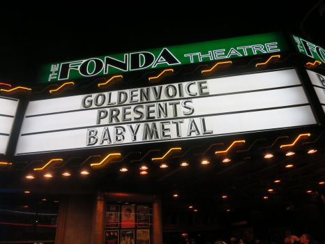 The Fonda Theatre Marquis Night: BABYMETAL by iancinerate