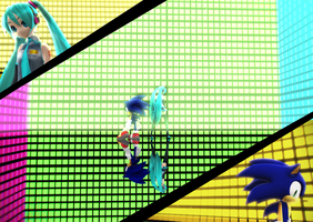 MMD: Hatsune Miku and Sonic The Hedgehog Bad Apple by BluexBlur