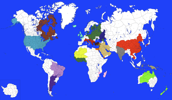 Frontier World Map by RuskiTheCommie