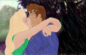 Modern Disney - Kiss in the Rain by nikkibelle18