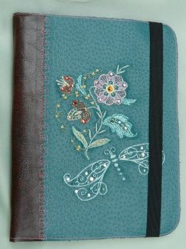 Dragonfly Embroidered Kindle Cover by SlowMatsu