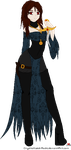 Vaesha .:Lineart : Request:. by Crystallized-Rose
