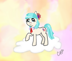Coco Pommel on a cloud by Cookie--Bear