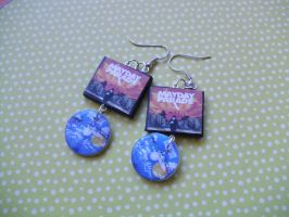 Mayday Parade A Lesson in Romantics album earrings by InsaneJellyBean95