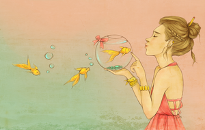 Goldfish by kimpertinent