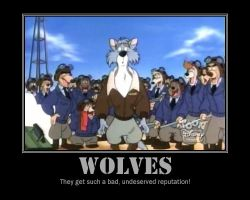 Wolves inspirational poster by Zucca-Xerfantes