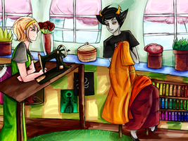 In The Sewing Room by Jazzy-Strings