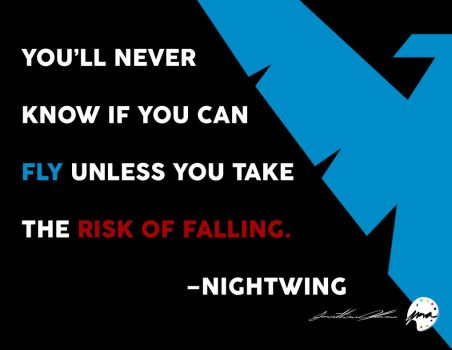 Nightwing Quote (2015) by jmalfonso7