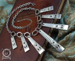 Coronation Pattern Handle Chandelier Necklace by Doctor-Gus