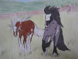 Running Free (Caia and Crius) - Art/story bid by Feathersun