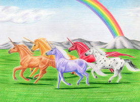 Unicorns of Balinor by SilverFlameWanderer