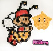 8 Bit Bee Mario by hotpinkflamingo