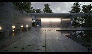 Barcelona Pavilion by the-f-render
