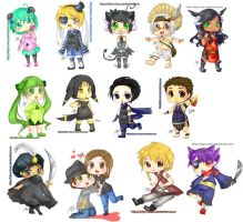 Gaia Commisions - CHIBI BATCH by Taiya-Chan