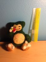Snorlax Needle Felt Paid Commission by x-SpookyBoo-x