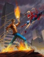 MvS Kyo Kusanagi vs Spider-Man by saltheman