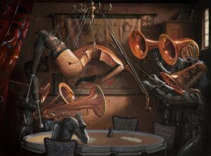 Serenade With Strings -oil painting by borda