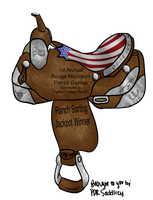 Rouge Patriot Sorting Saddle by painted-cowgirl