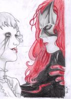 Batwoman and High Madame by rmsk8r05
