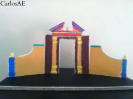 Scenic Greek Entrance Theatrical Model by CarlosAE
