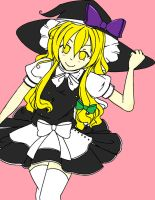 Marisa Lineart by AdidaTiki,Colored by Me by FrozenFlyingKero