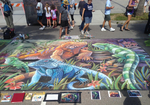 Endangered Iguanas Chalk Art 2 by charfade