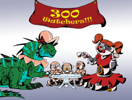 300 Watchers!!! by Rile-Reptile