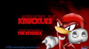 knucklesthe echidna wallapaper by andreahedgehog