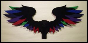 Small Feathered Dark Rainbow by CraftyWingy