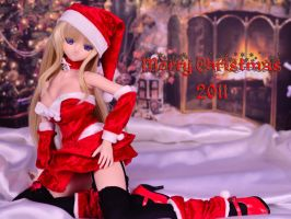 Merry Christmas with Sasara Dollfie Santa Lady by Wolfheinrich