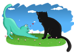 Cats in love by pallottili