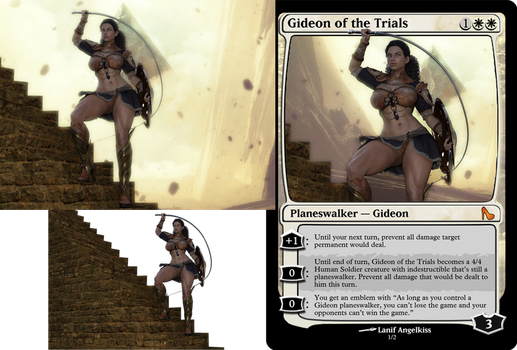 Sexy MTG : Gideon of the Trials by Lanif-Angelkiss