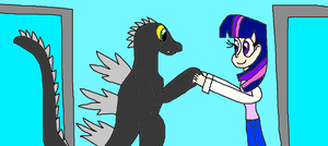 Twilight Sparkle and Godzilla: We Have Each Other! by Devon13168