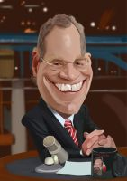 David letterman caricature by Steveroberts