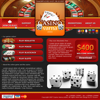 Casino web layout by xnapflyice