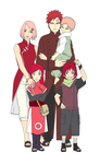 Family Haruno Next Gen Color by SunakiSabakuno