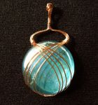 Ocean Blue glass and copper by Morning-Grey