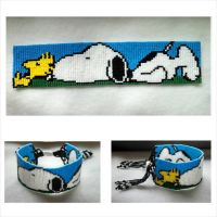 Snoopy and Woodstock bracelet 1 by ravenarcana