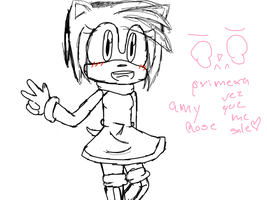 amy rose by kittynyanmiaw