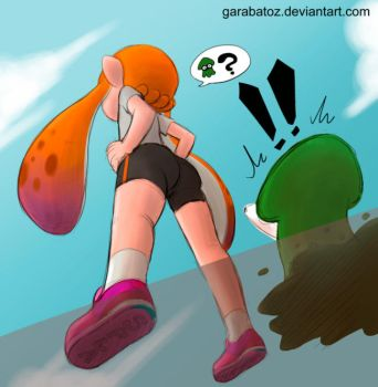 Squid vs Girl by Garabatoz