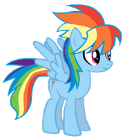 Cloudchaser in Rainbow Dash's colors by AdolfWolfed4Life