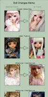 Doll Changes Meme by AndrejA